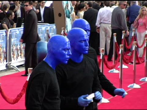 Blue Man Group at the 'Robots' World Premiere at the Mann Village Theatre in Westwood California on March 6 2005