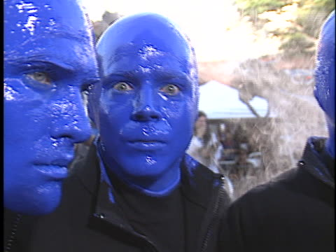 blue man group at the terminator 3: rise of the machines premiere at westwood in westwood, ca. - terminator 3: rise of the machines stock videos & royalty-free footage
