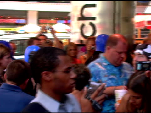 Blue Man Group make their way through the crowd at the Introduction of 'Swatch Blue' by Blue Man Group at Swatch Times Square Store in New York New...