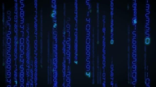 blaue matrix-rolle - austauschen stock-videos und b-roll-filmmaterial