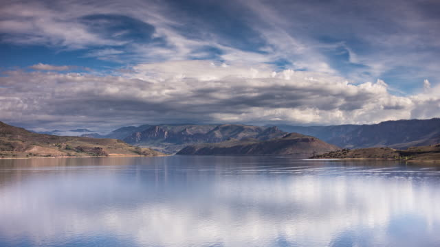blue mesa reservoir, colorado - time lapse - gunnison stock videos & royalty-free footage