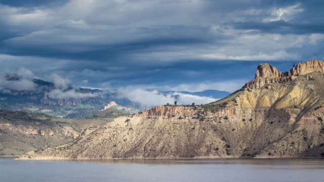 blue mesa reservoir, colorado - time lapse - reservoir stock videos and b-roll footage