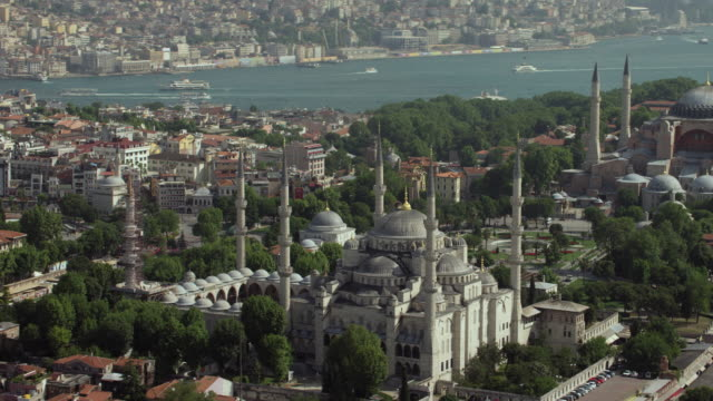 Blue Mosque And Hagia Sophia In Istanbul