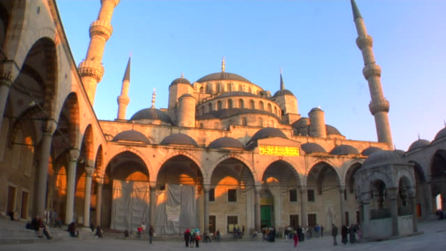 ms la blue mosque at sunset, istanbul, turkey - 17th century style stock videos & royalty-free footage