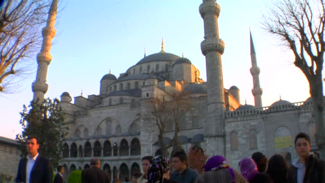 ms blue mosque at sunset, istanbul, turkey - 17th century style stock videos & royalty-free footage