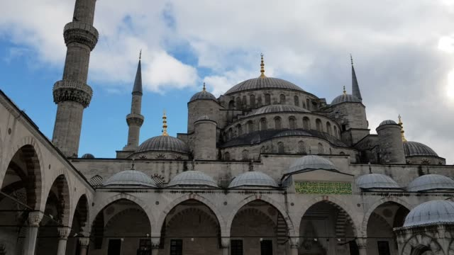 blue mosque courtyard of the mosque - blue mosque stock videos and b-roll footage