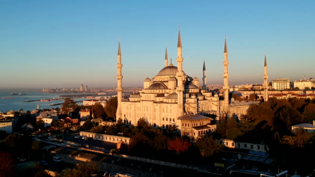 blue mosque, istanbul, turkey - minaret stock videos & royalty-free footage