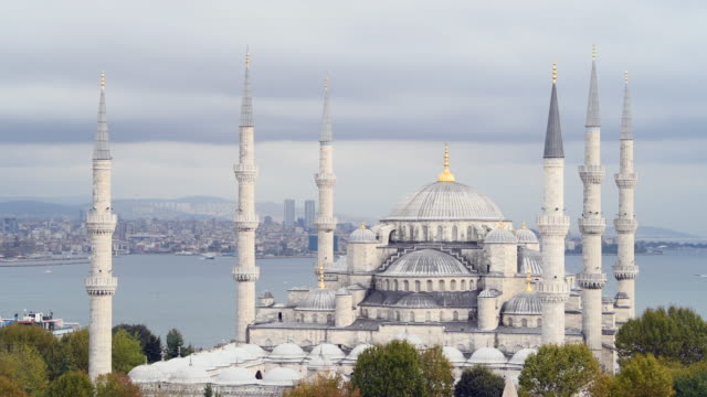 blue mosque - sultan ahmet camii in istanbul - turkey - blue mosque stock videos & royalty-free footage