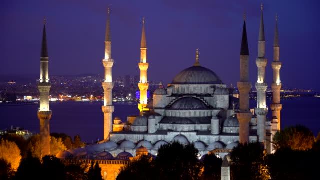 Blue Mosque - Sultan Ahmet Camii in the night.   Istanbul - Turkey