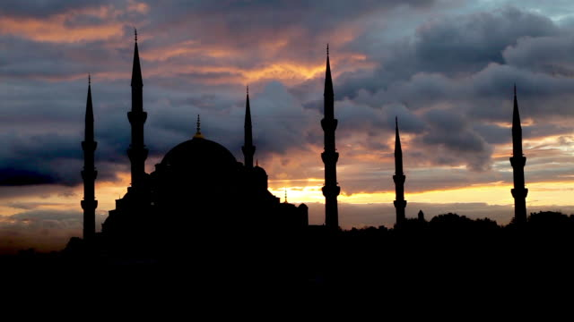 blue mosque - blue mosque stock videos and b-roll footage