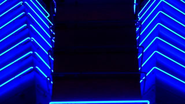 Blauer Neon-Las Vegas, Nevada