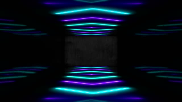 blue neon led vj event concert title presentation music videos show party abstract loop - projection screen stock videos & royalty-free footage
