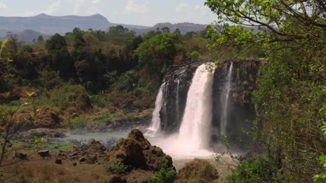 blue nile falls / ethiopia, africa - natural landmark stock videos & royalty-free footage