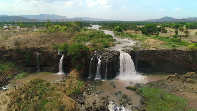 blue nile falls / ethiopia, africa - horn of africa stock videos & royalty-free footage