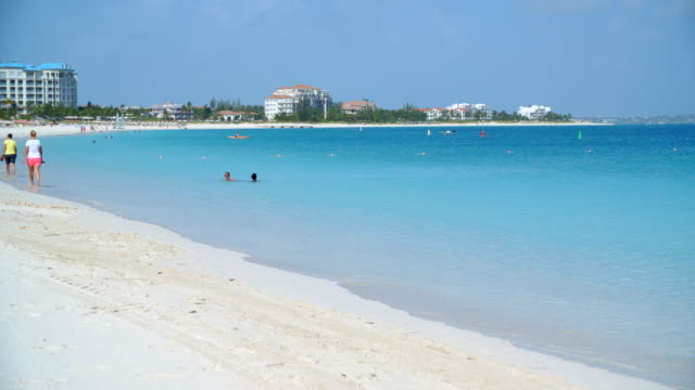 Blue ocean and the beachside / Parrot Cay, Turks and Caicos