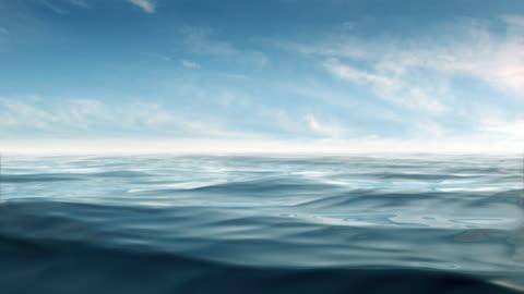 blue ocean paradise loop 720p - water surface stock videos & royalty-free footage