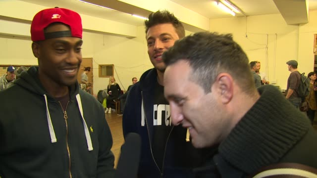 interview blue on the upcoming tour favourite acts and inspirations at the big reunion boy band tour rehearsals on 15th october 2014 in london england - boy band stock videos & royalty-free footage