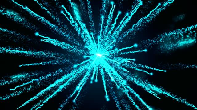 blaue partikel feuerwerk explosion - feuerball stock-videos und b-roll-filmmaterial