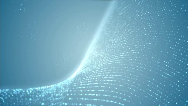 vidéos et rushes de bleu de particules - vidéo 4k - mise au point au second plan