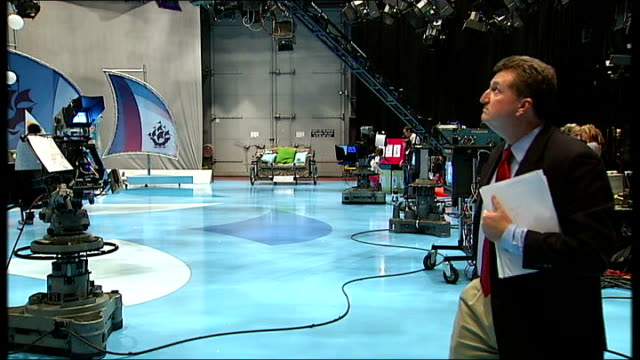 blue peter apologises for faking results of phonein competition taylor on blue peter set - blue peter stock videos and b-roll footage