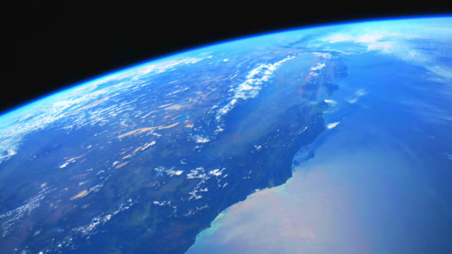 vídeos de stock, filmes e b-roll de terra azul do planeta do espaço - geologia