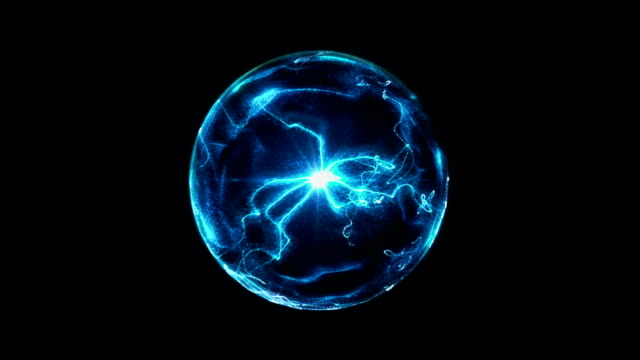 blue plasma ball - tesla coil stock videos and b-roll footage
