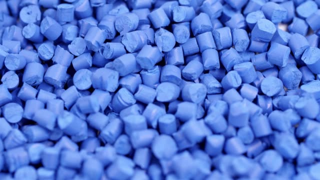 blue plastic polymer granules - plastic stock videos & royalty-free footage