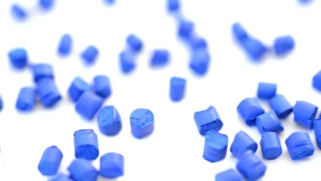 Blue polymer granule macro