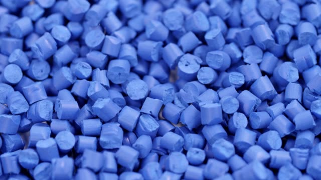 blue polymer granules - polypropylene stock videos and b-roll footage