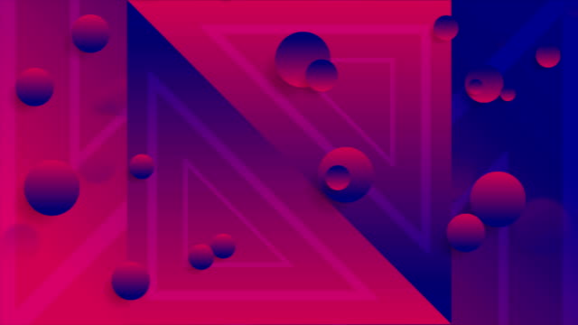 Blue purple abstract neon geometric video animation