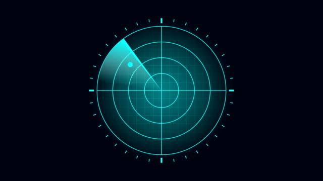 blue radar screen scanning surrounding and incoming aerial traffic - air raid stock videos & royalty-free footage