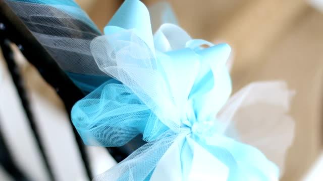 Blue ribbon bow
