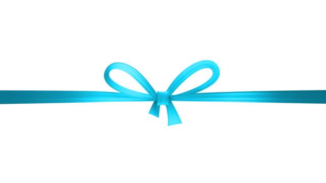 blue ribbon - ribbon stock videos & royalty-free footage