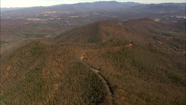 Blue Ridge Parkway  - Aerial View - North Carolina,  Haywood County,  United States