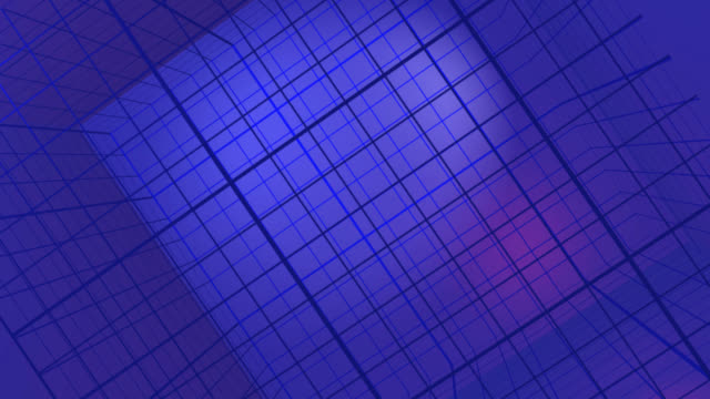 blue rotating cube grid (hd 720 original) - depth marker stock videos & royalty-free footage