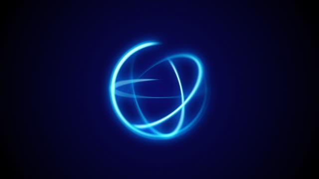 blue rotating lights - kula geometriformad bildbanksvideor och videomaterial från bakom kulisserna