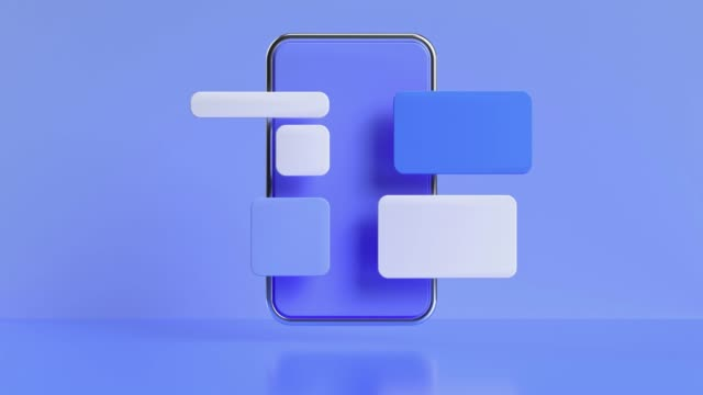 blue scene smartphone display user interface 3d rendering motion - three dimensional stock videos & royalty-free footage