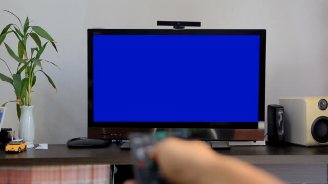 Blue screen tv