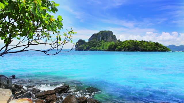 Blue sea and island