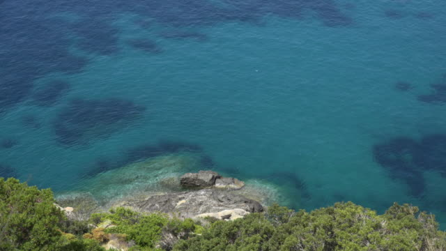 zo / blue sea at coast of chiessi - island of elba stock videos & royalty-free footage