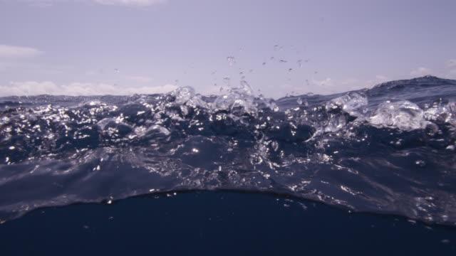 "blue sea laps at camera, azores - ""bbc natural history"" stock videos & royalty-free footage"