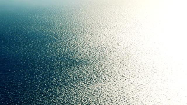 Blaue Meer mit Wellen Oberfläche