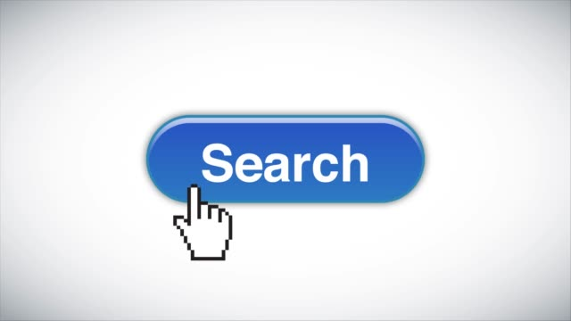 blue search web interface button clicked with mouse cursor 4k stock video - cursor stock videos & royalty-free footage