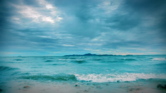 Blue seascape