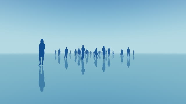 CGI, Blue silhouettes of people