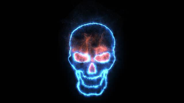 blue skull loop - flame stock videos & royalty-free footage