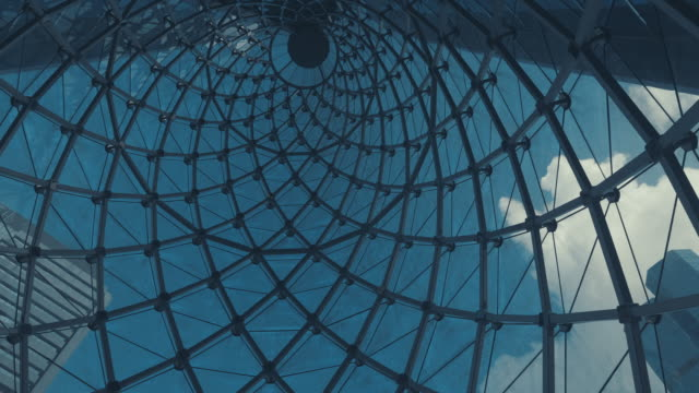 blue sky and clear cloud with glass sunroof. - sun roof stock videos & royalty-free footage