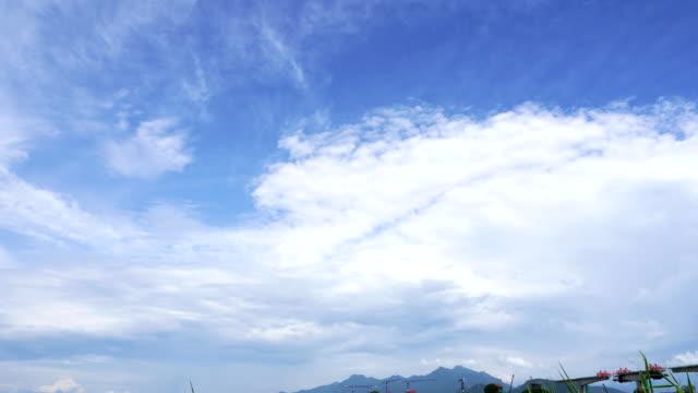 blauer himmel und baustelle, zeitraffer - hanging gallows stock-videos und b-roll-filmmaterial
