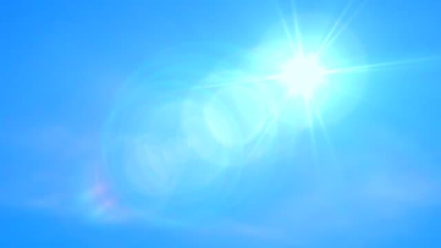 Blue Sky and Sun. 4k