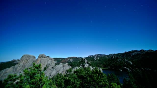 blue sky at night, timelapse - south dakota stock-videos und b-roll-filmmaterial